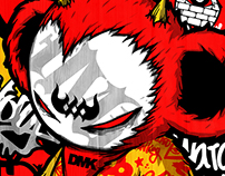 Graffiti artist devil monkey DMK