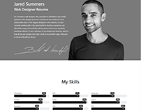 Resume WordPress Theme - One-Page Home CV