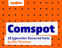 Comspot — typewriter-flavoured font family