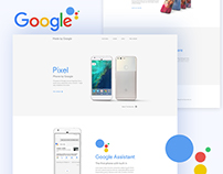 Google Pixel Phone Landing Page Concept