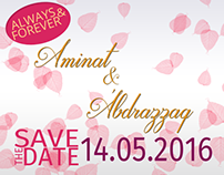 Abdurrazzaq and Aminat's Wedding Social Invite
