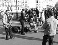 Sunday Jazz in Paris on the Pont St. Louis