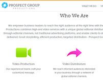 Prospect Group Productions Site Design