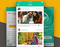 Fitness Social App Free PSD