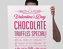 Valentine's Day Truffles Poster Design