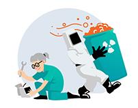 Hansa Medicali veebilehe illustratsioonid