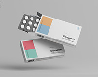 Pills Box Packaging Mockup