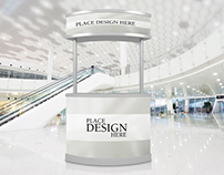 Free Promotion Counter Mockup For Advertisement
