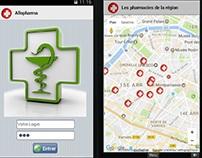 Application Android de services de la pharmacie