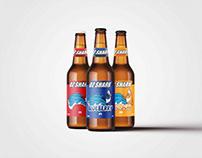 Oz Shark Beer Label Design