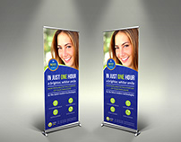 Dental Clinic Signage Roll Up Template Vol2