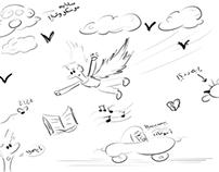 Child doodles