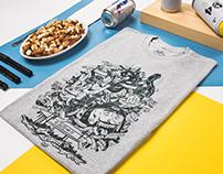 Le Cartel / T-shirt Danse la poutine / HRVB