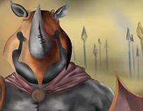 Student Project - Character Design - Karkadan