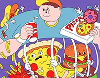 Junk foods boy