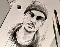 Watercolor of Shannon Leto