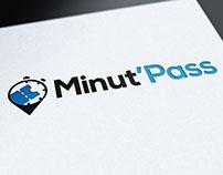 Logo appli MinutPass, graphiste loolye, aix-en-provence
