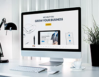 Freebie: Professional Business Website Template PSD