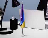 Table Mini Flag Mockups