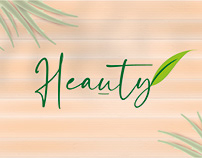 Heauty logo's bedrijf verzorgingsproducten