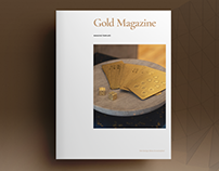 Gold Magazine Template