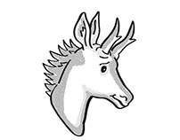 pronghorn antelope Endangered Wildlife Cartoon