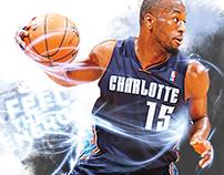 2012-13 Charlotte Bobcats print
