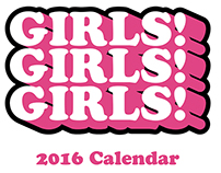 Girls Girls Girls - French Paper Calendar