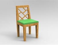 Dining Chair-Piet Mondrian