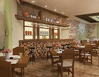 Interior design for Georgian restaurant