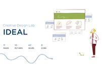 IDeal creative lab - website design