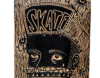 Wood cut on a skateboard for Matick skateboards