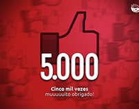 5.000 Curtidas no Carros Prime (Marketing Social)