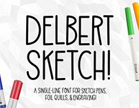 Delbert Sketch: a free single-line sketch font!