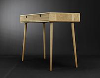 Desk , bureau in solid Oak