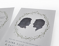 Alaina & David — Custom Wedding Invitations