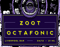 Zoot & Octafonic - Flyer for rock gig