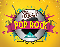 Cornetto Pop Rock Identity Design