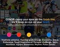 CONQR - heart rate monitor for triathletes [mood board]