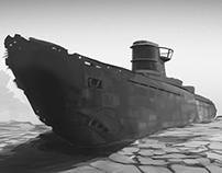 Dry submarine