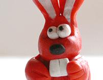 Plasticine rabbit