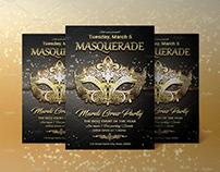 Mardi Gras Masquerade Flyer
