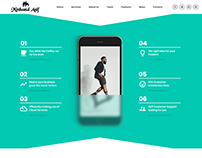 App Landing HTML Website By Minhazul Asif