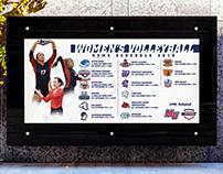 Malone University Sports Schedule Wall Graphics