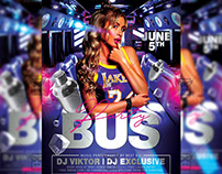 Party Bus Flyer - Club A5 Template