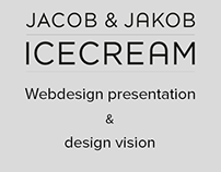 Jacob & Jakob ice cream - Webdesign and design vision