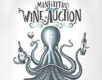 Manhattan Wine Auction Poster Created by Steven Noble