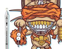 Mummified Meowth - Tee Design - Never Forsake