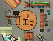 Home Furniture Illustration