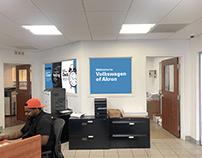 Volkswagen Service Window Design Mockup